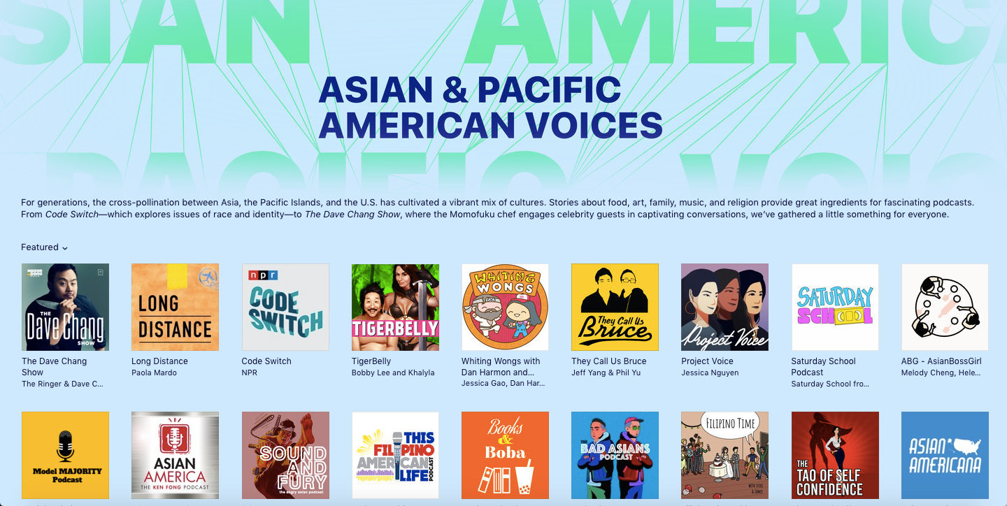 iTunes: Asian & Pacific American Voices - May 2018, May 2019