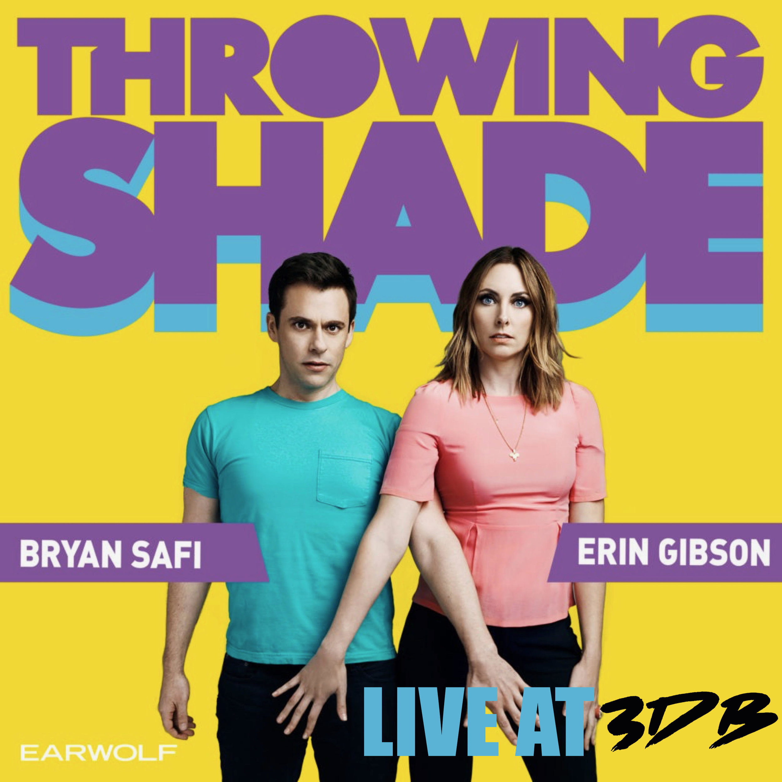 "Throwing Shade is a weekly comedy podcast which premiered based on discussions of women's rights, LGBTQ rights, progressive politics and pop culture, hosted by Erin Gibson (a.k.a. ""Feminasty"") and Bryan Safi (a.k.a. ""Homosensual""). Gibson and Safi are ""equal-opportunity offenders,"" and their comedic repartee frequently features adult topics and a politically incorrect sense of humor, even as they explore serious cultural and political issues."