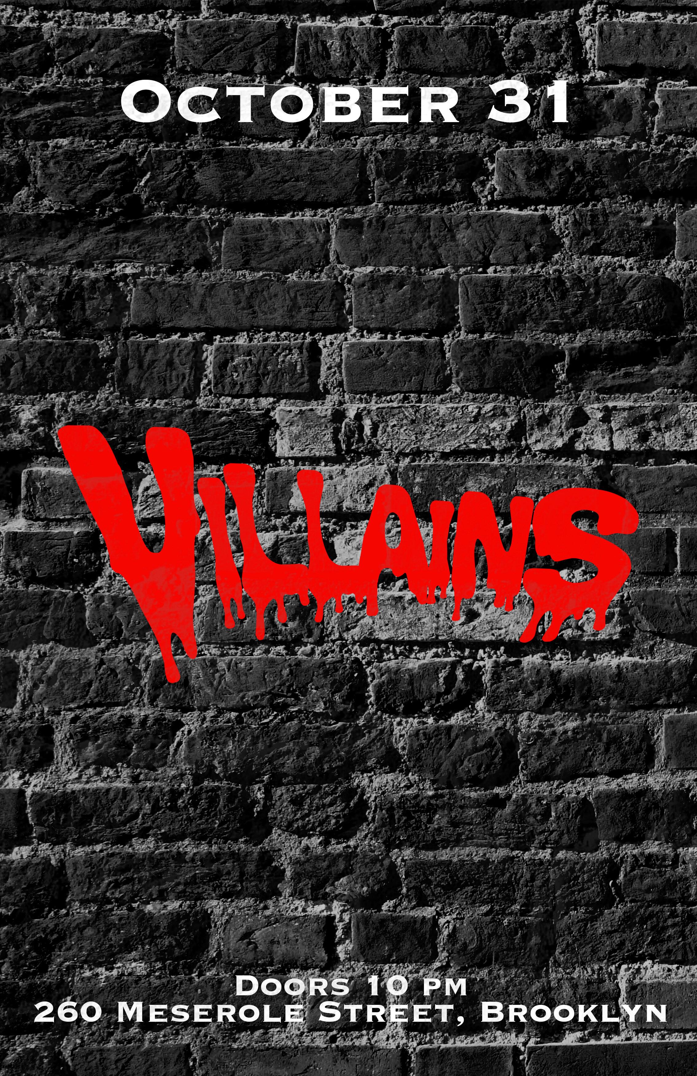Villains written on a wall