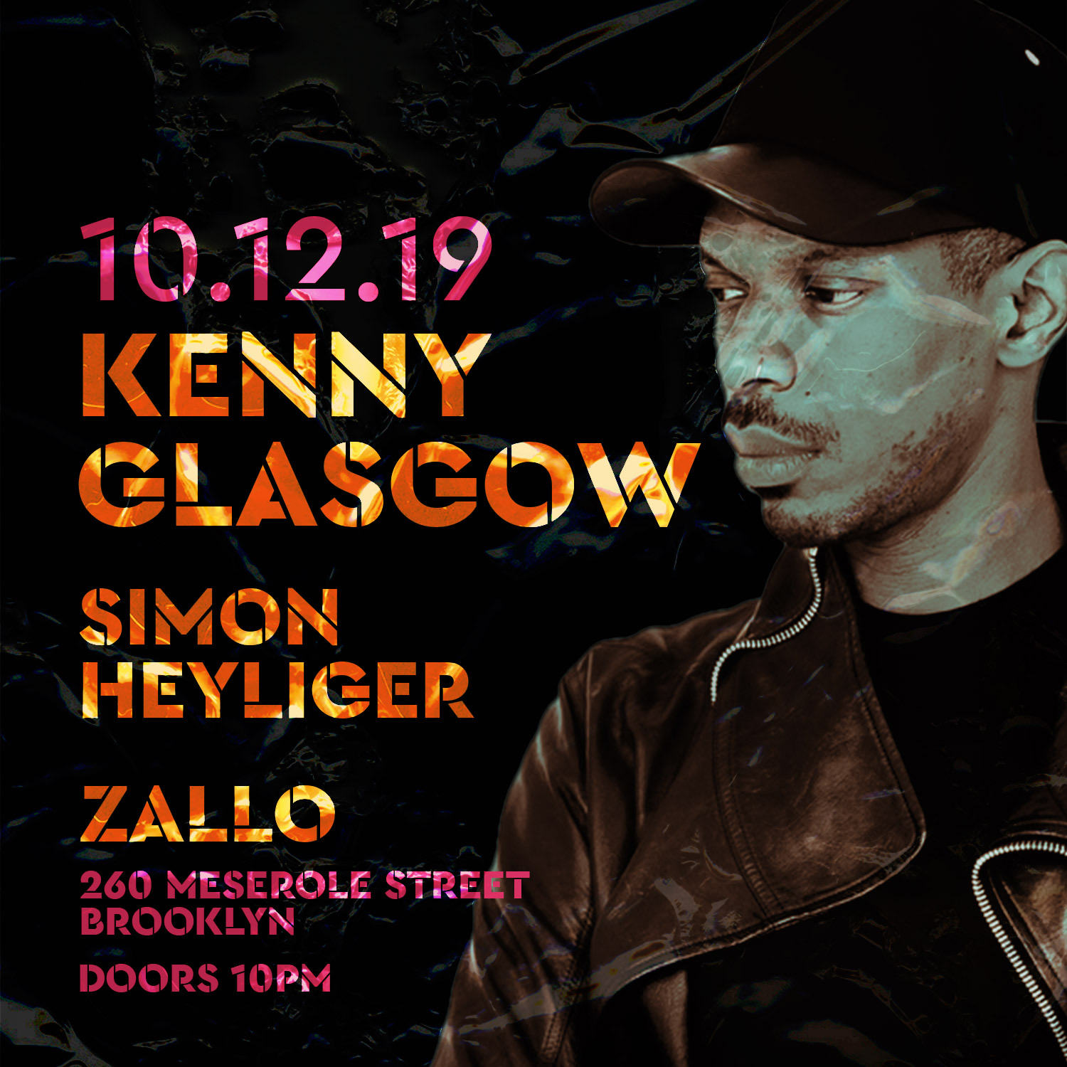 Kenny Glasgow poster with man on it