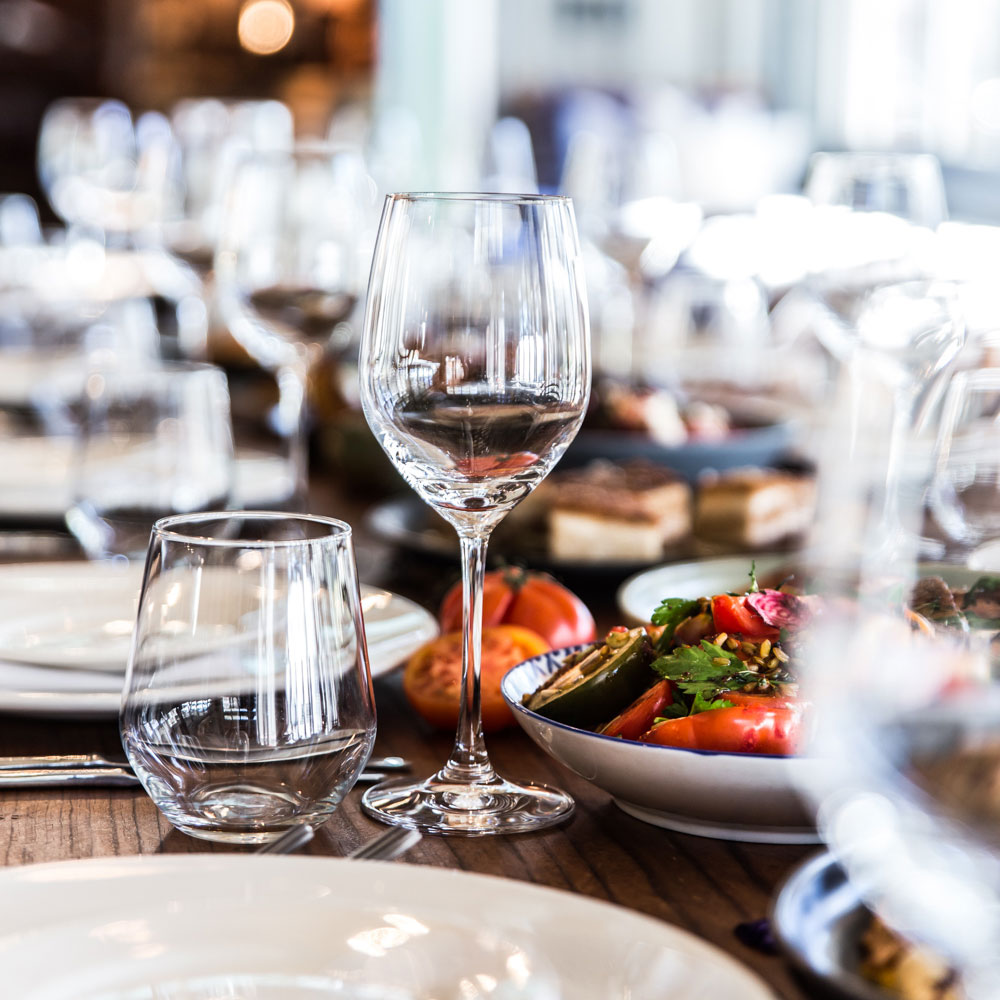 Simple crockery and glassware -