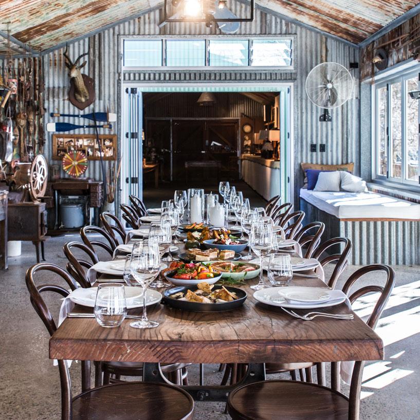 Rustic long tables -