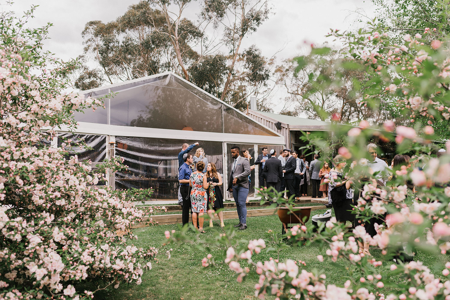 - Fusing the old and new, the rustic and the urbane, this venue is the essence of Wombat Hollow. With its views of the property's stunning gardens and untamed bush beyond, the Spring Meadow Marquee is a versatile permanent structure for dining, dancing and celebrating in style, and which can be decked out however you like. The marquee seamlessly flows from the adjoining Big Shed, clad in timber and tin and adding both space and charm to the venue. Here, vintage candleholders and agricultural artefacts lining the walls provide all the embellishment you could wish for – simply add some beautiful floral arrangements to the tables, light some candles and let it glow.