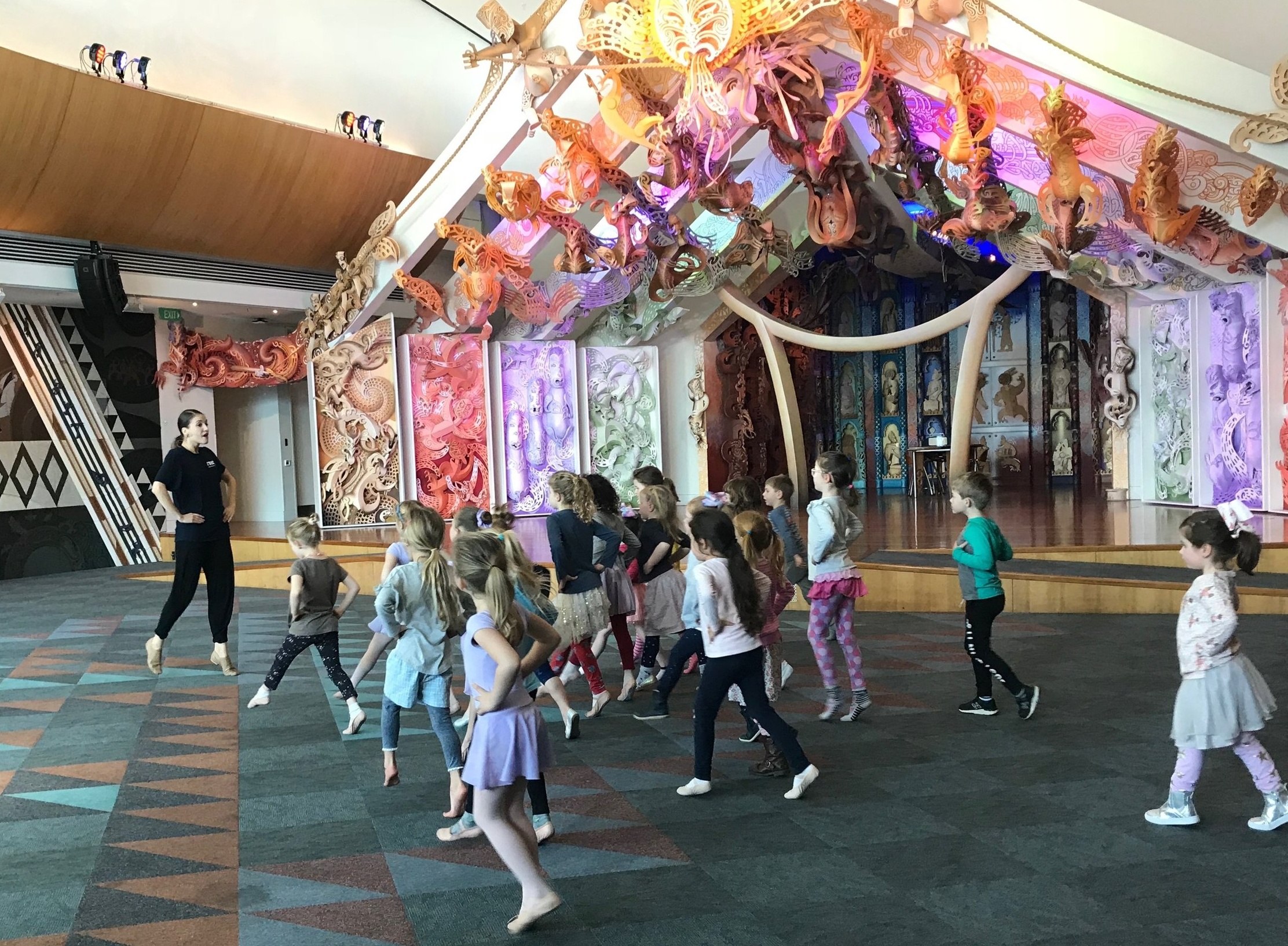 RNZB Dance Educator Lucy Marinkovich at Te Papa Family Day