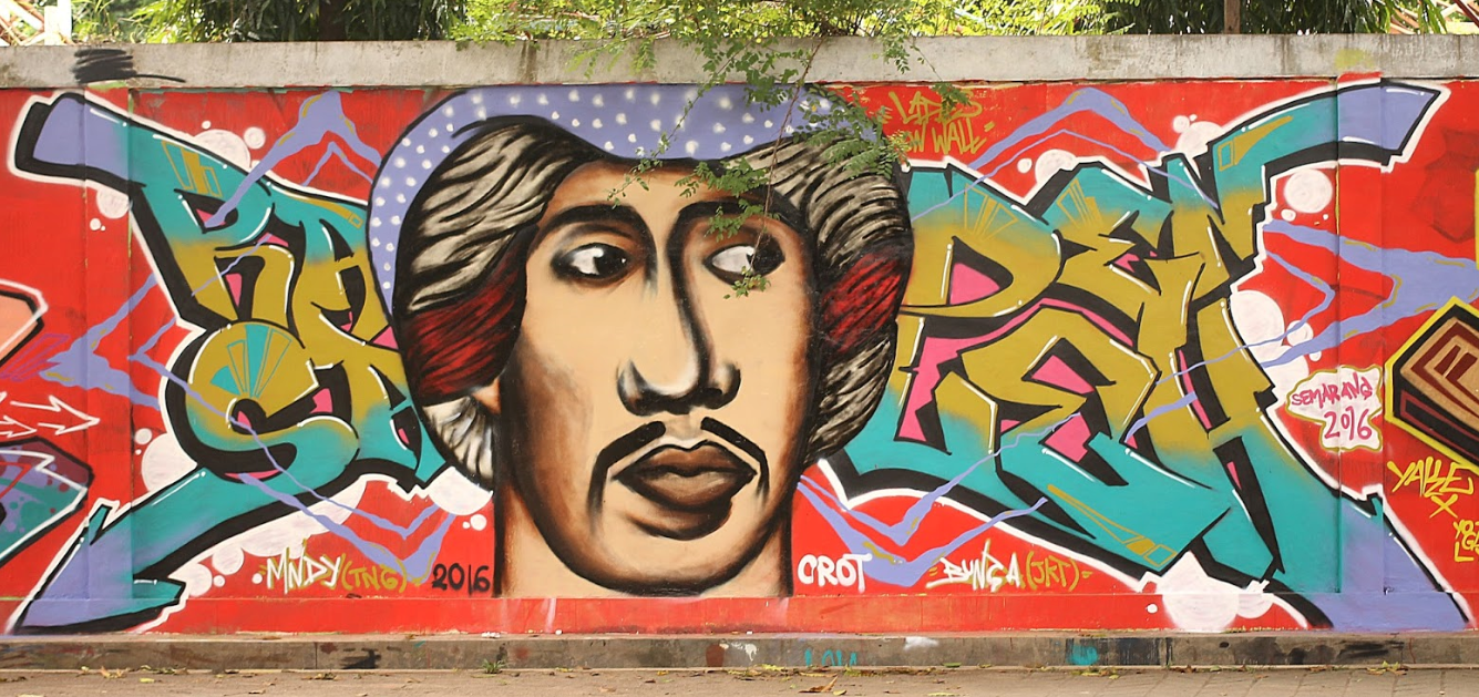 Local creativity expressed in Semarang street art