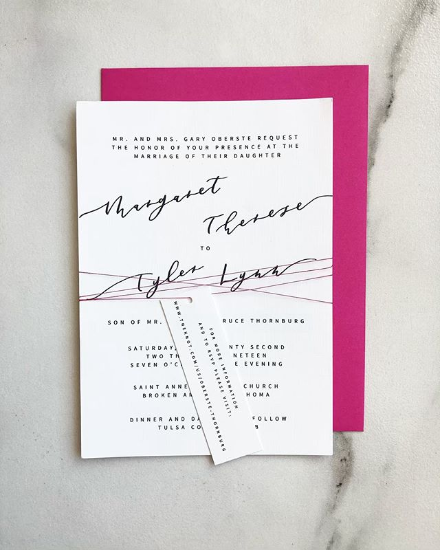Maggie and Tyler's big day is coming up and we were so excited to be able to create this suite for them! Check out our stories for an up close look! . . . . . . . . . . . #custominvitations #weddingsuites #weddinginvitations #customweddinginvitations #weddinginvites #calligraphyinvitations #invites #invitations #blacktiewedding #linenpaper #tulsawedding #stationary #papergoods  #fortworthcalligraphy #dallascalligraphy #customstationary  #dailydoseofpaper
