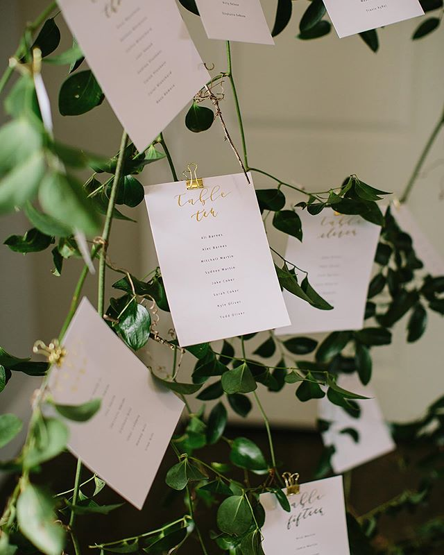 You can be so creative with seating charts! We loved how Jenna placed these gold foil table cards in greenery for her wedding! . . . . . . . . . . . #seatingchart #goldfoil #greeneryseatingchart #creativeseatingchart #customstationary #goldfoilstationary #calligraphy #calligraphyseatingchart #invites #invitations #stationary #fortworthwedding #dallaswedding #papergoods  #fortworthcalligraphy #dallascalligraphy #customstationary  #dailydoseofpaper