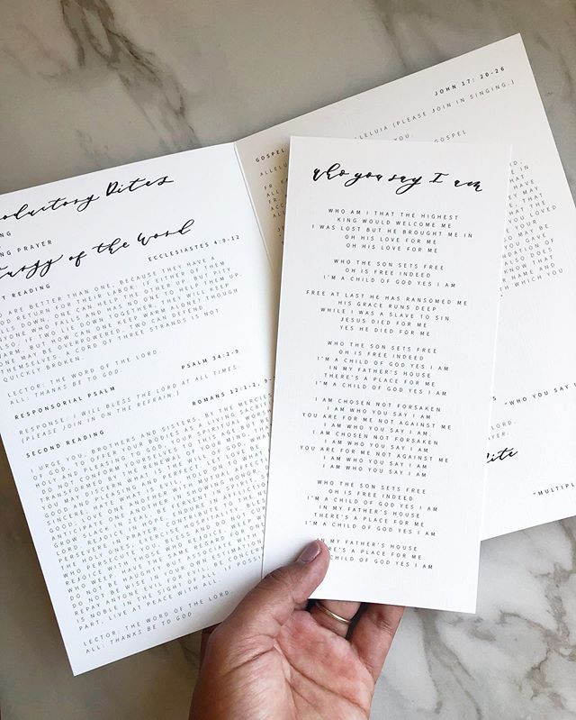 We are so thankful to have been a part of Maggie and Tyler's big day! Their wedding ceremony was beautiful! Congratulations! . . . . . . . . . . . #weddingprogram #weddingpapergoods #customweddingstationary #weddinggoods #dayofgoods #progeams #calligraphy #tulsawedding #invites #invitations #stationary #fortworthwedding #dallaswedding #papergoods  #fortworthcalligraphy #dallascalligraphy #customstationary  #dailydoseofpaper