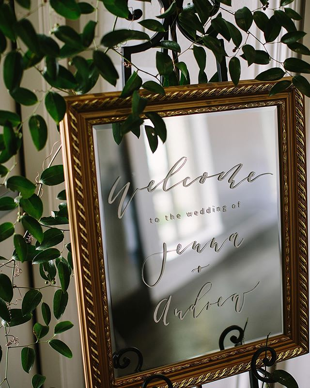 Happy Monday friends! We hope you enjoyed time off with your families last week! We're rested and gearing up for a new week! . . . . . . . . . . . #welcomesign #mirrorwelcomesign #modernwedding #weddinggoods #dayofgoods #welcome #calligraphy #fortworthwedding #invites #invitations #stationary #fortworthwedding #dallaswedding #papergoods  #fortworthcalligraphy #dallascalligraphy #customstationary  #dailydoseofpaper
