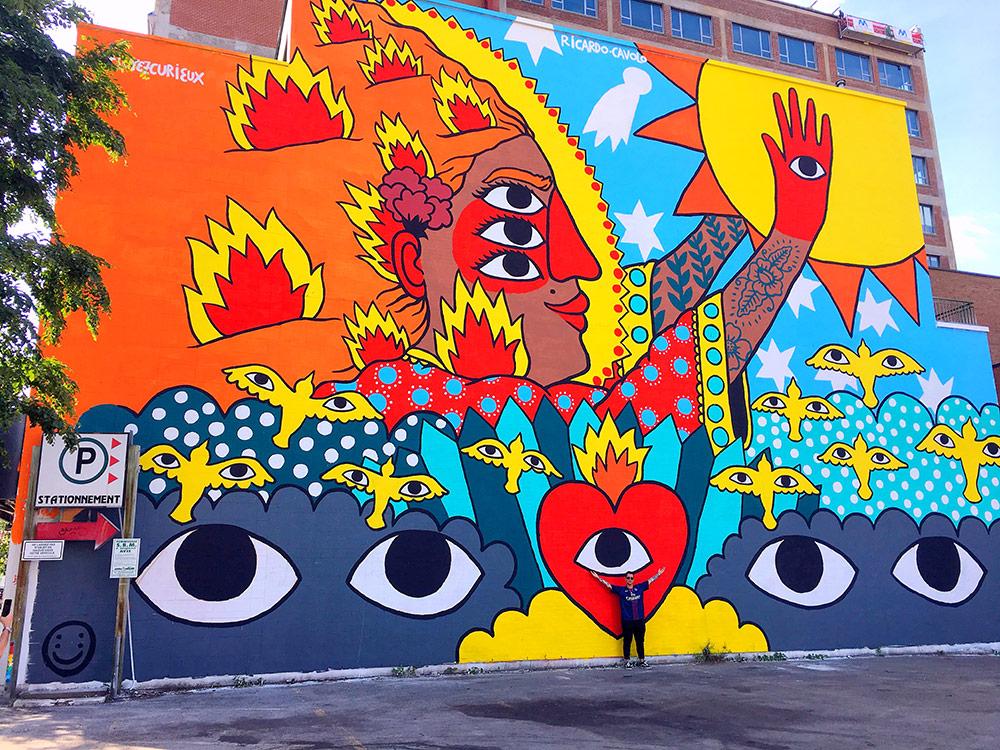 Ricardo Cavolo Montreal Mural  https://ricardocavolo.com/