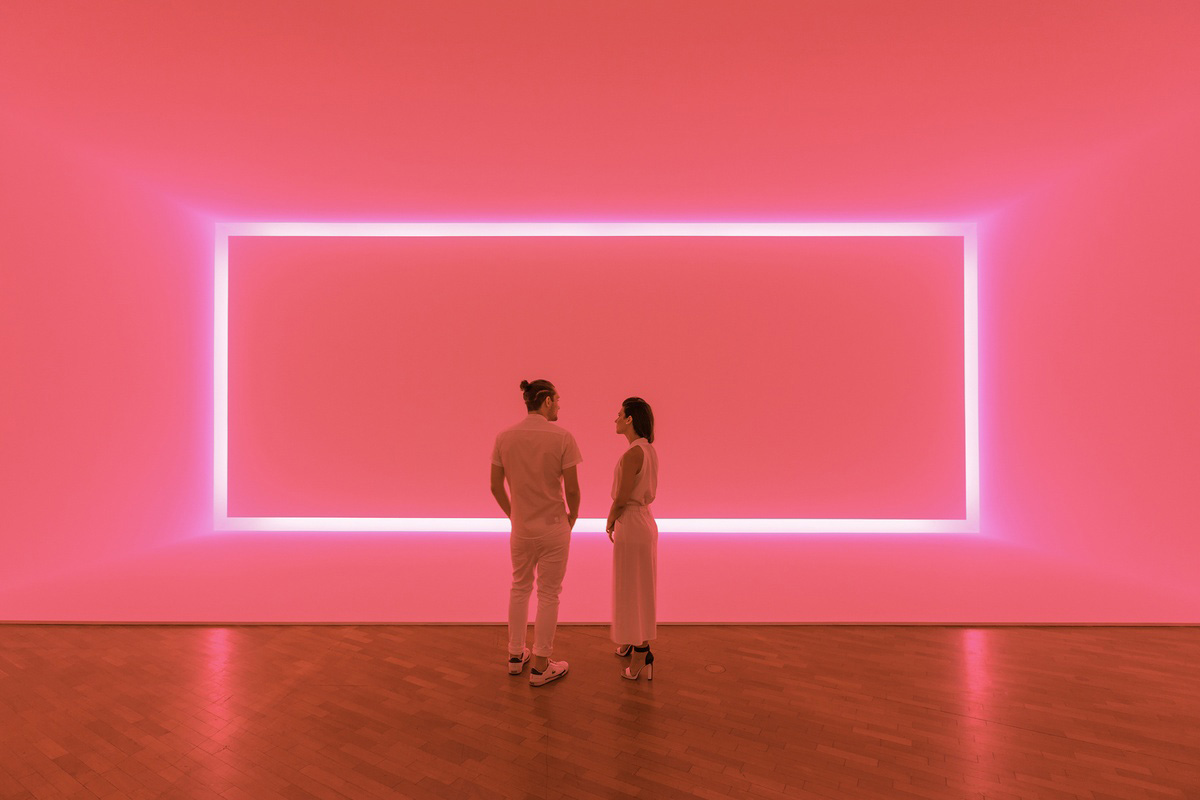 """""""Rather than be someone who depicted light or painted light, I want the work to be light."""" -James Turrell"""