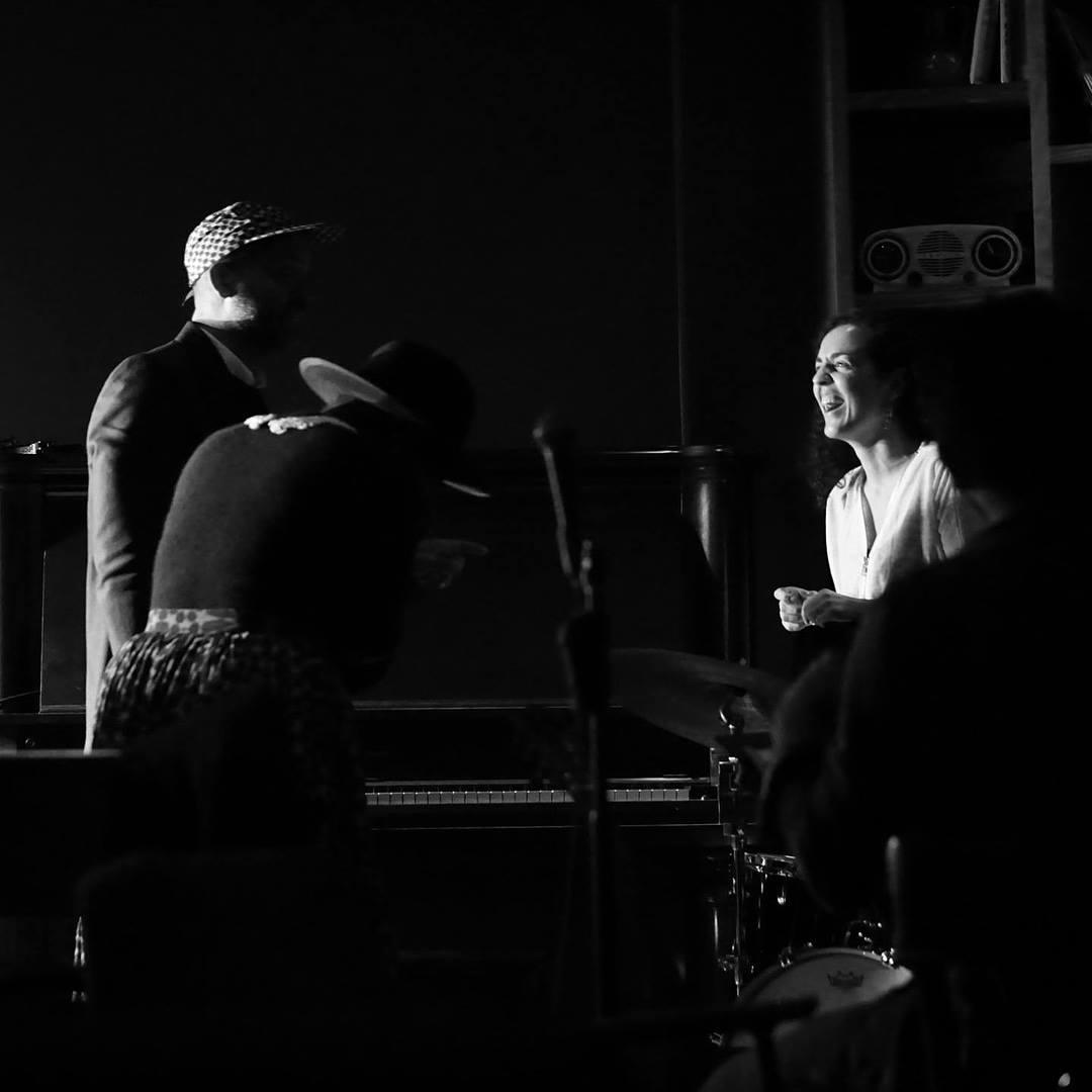 With Jason Moran and Thalma de Freitas at the First Brazilian Jazz Night.  Photo by Mark Tecson