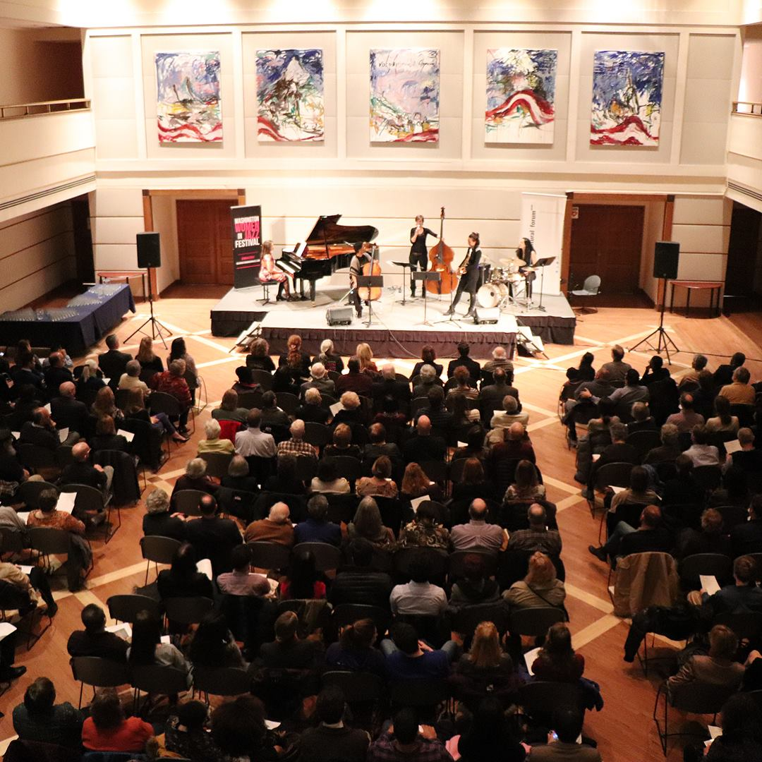 Washington Women in Jazz 2018 featuring bassist Judith Ferstl at the Austrian Embassy
