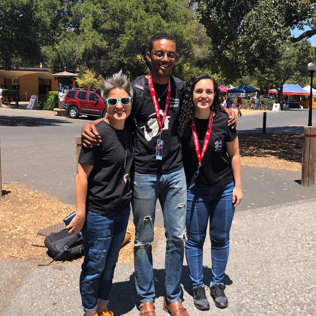 Allison Miller, Luther Allison and me. Drum Faculty Stanford 2018/week2