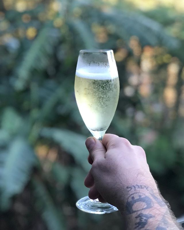 First drink of a four-day weekend. Best thing #Jesus ever did for me. Made the weekend, and also made this Australian 2018 sparkling white wine out of water, apparently. Read your bible. #easter #wine #hallelujah #rejoice
