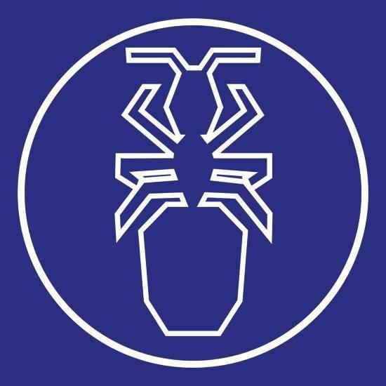 Den samhällsbyggande myran har länge varit föreningens symbol.  Myran är ritad av Bo Vading.