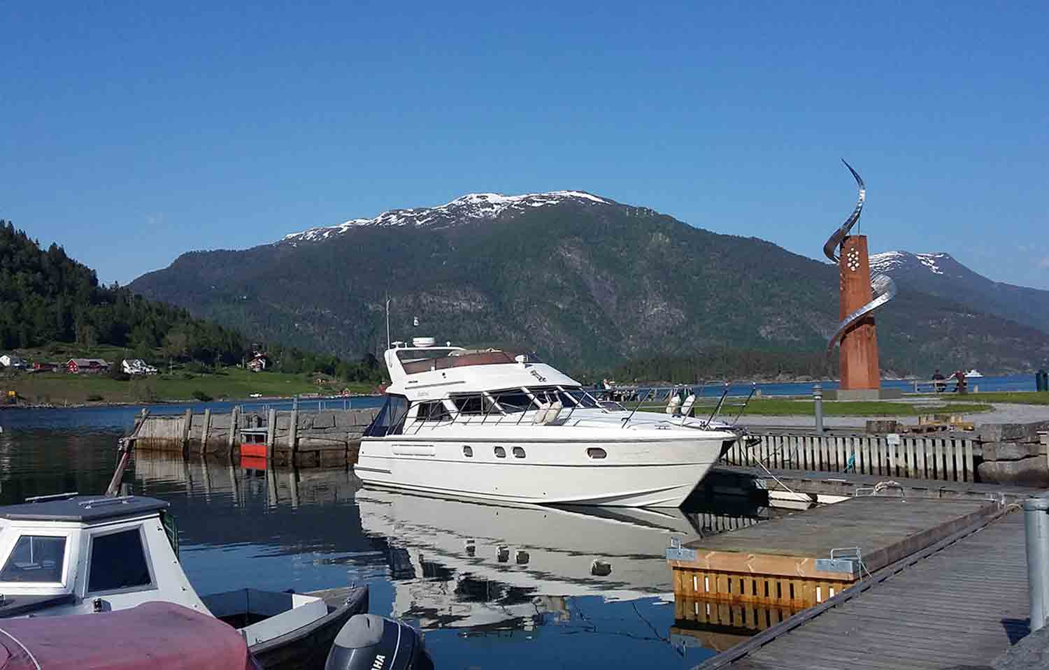 Balestrand harbourfront Sognefjord Norway