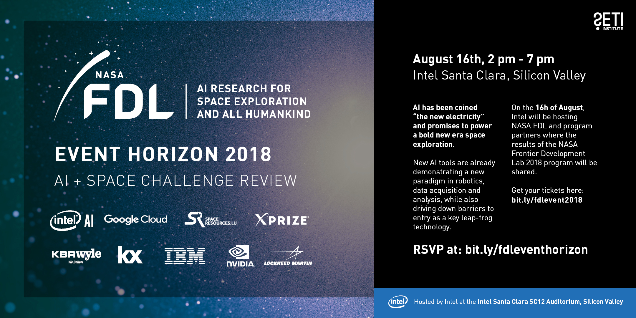 NASA FDL Event Horizon 2018 AI and Space Challenge Review