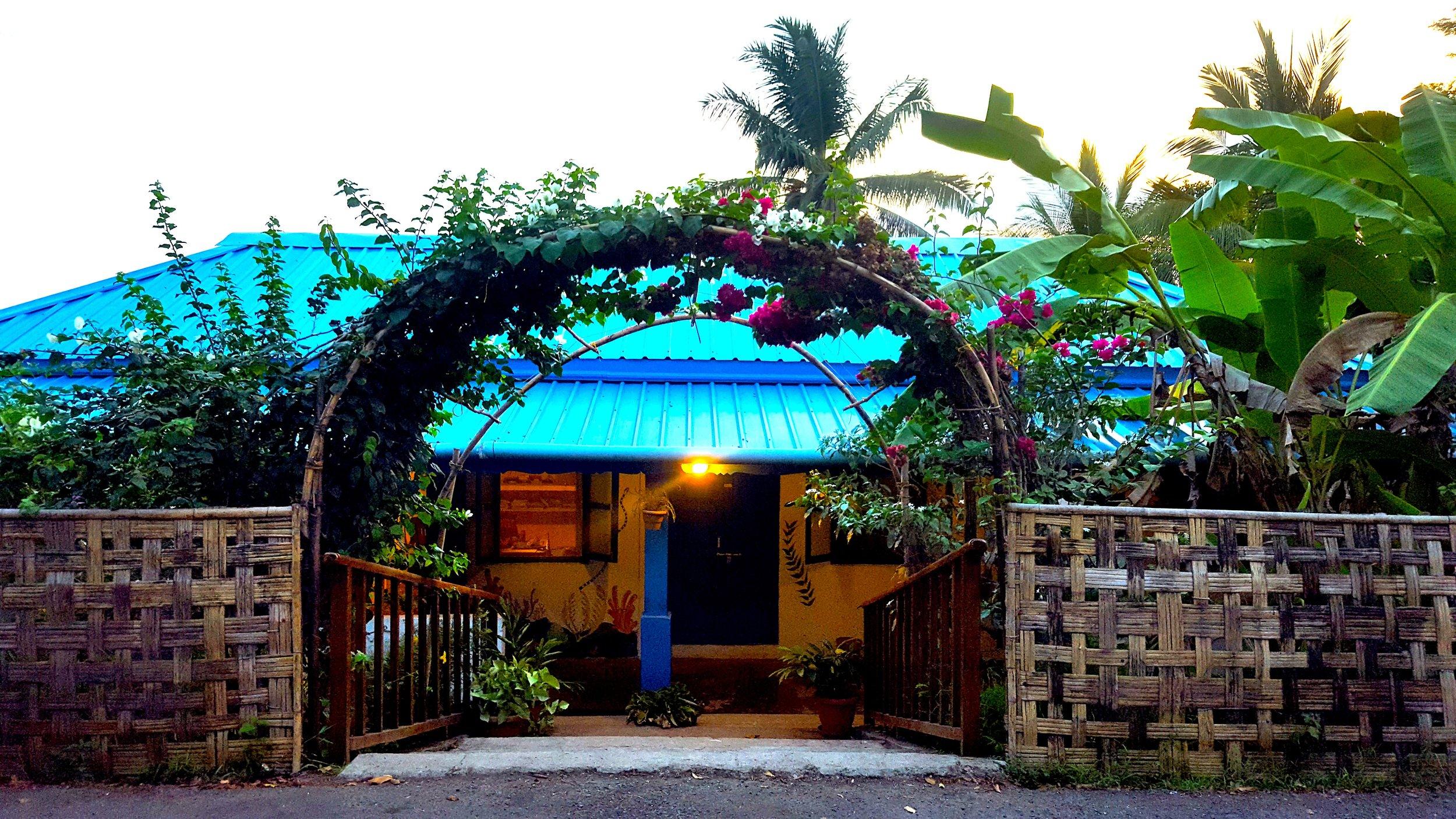 Lacadives dive shop entrance