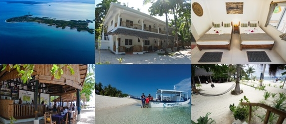 Resort and location at Malapascua with Lacadives dive travel