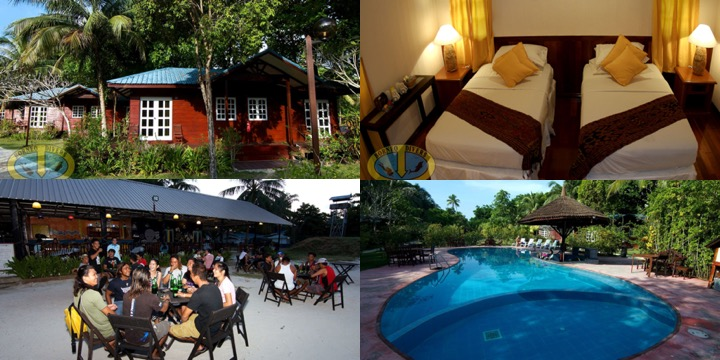 Resort at Sipadan with Lacadives dive travel
