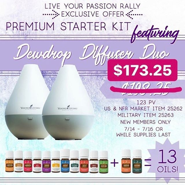 🌱💧 This is a very limited time offer from me (today & tomorrow ONLY) - For new members, purchase this Diffuser Bundle Starter Kit at the sale price, and I'll send you an additional $25 rebate!  The normal price for a starter kit with one diffuser is $160 - you'll get two diffusers plus 13 oils for $174.25 😱😍 Message me! 💁‍♀️💁‍♂️