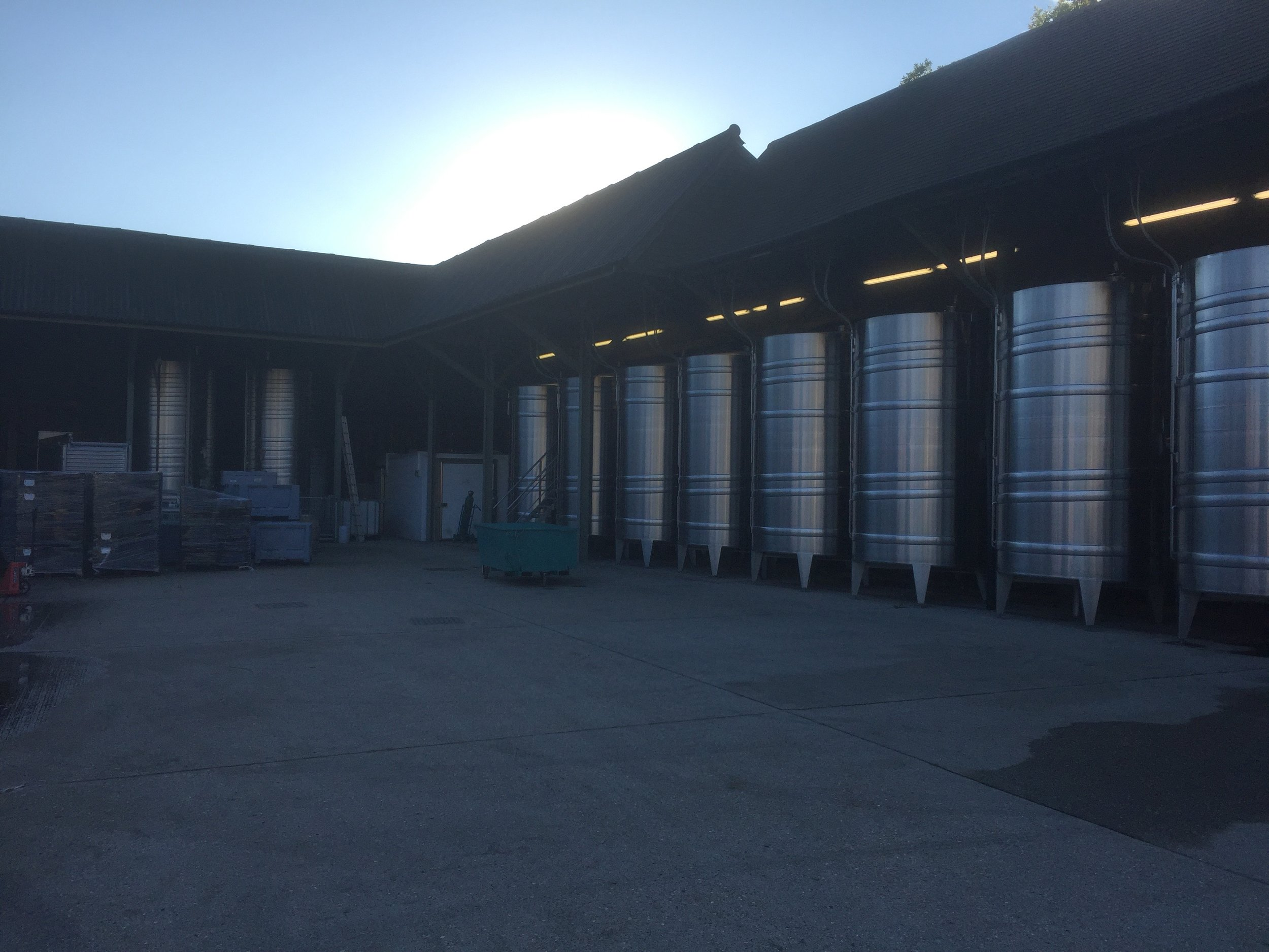Winery tanks stand in splendour