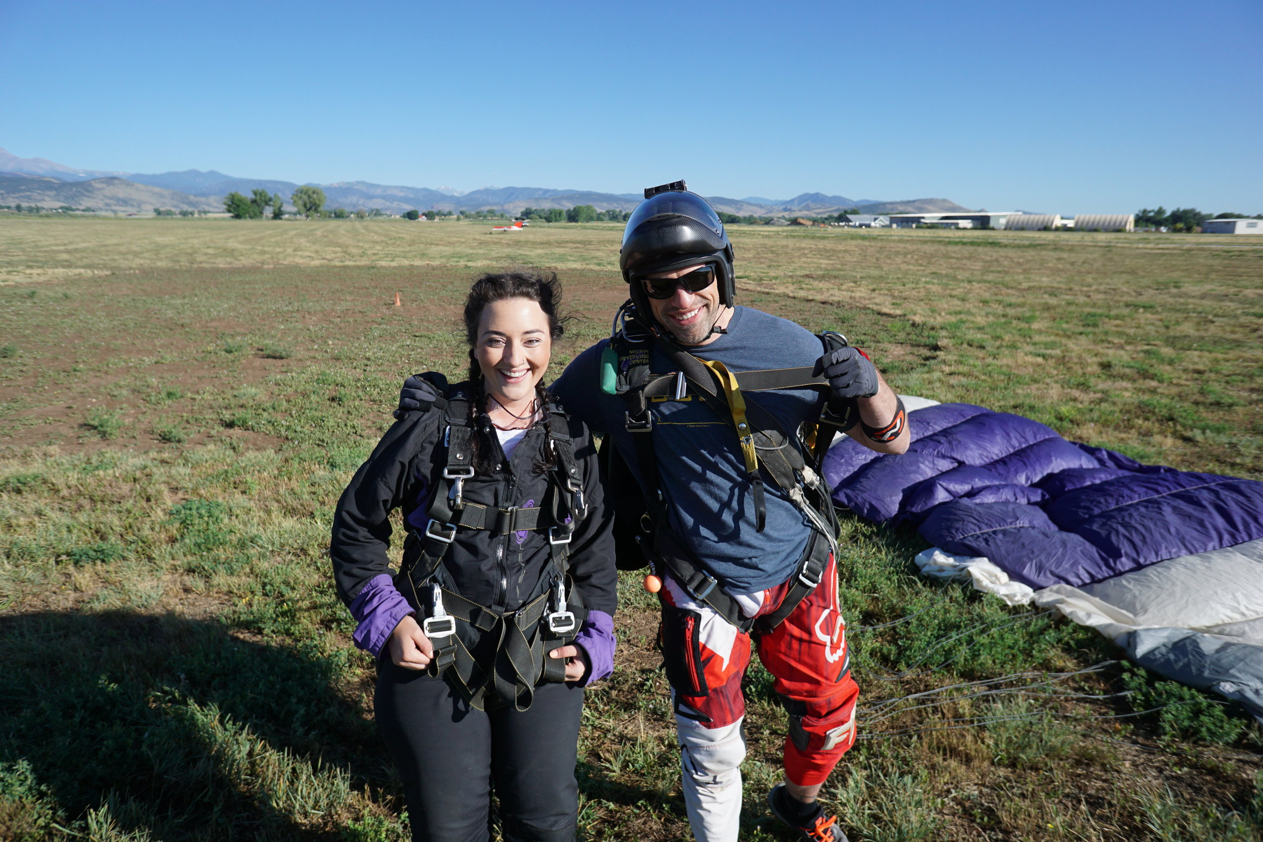 Thank you to my tandem instructor and all the folks at Mile-Hi Skydiving for an amazing first experience with skydiving!
