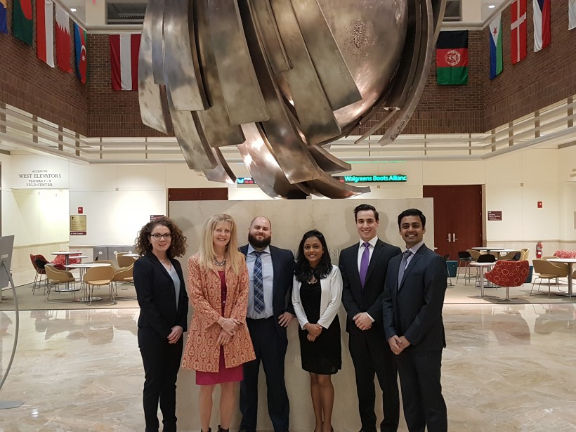 The SMU team: Stephanie Fitzner, left, Ellen Farrell, Findlay Hilchie, Anindita Gupta, David Hatcher and Avinash Chandrapati
