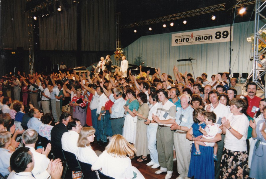 In 1988/89 & 1991/92, David organised four East/West 'EuroVision' conferences in Karlsruhe West Germany. Thousands of East Europeans came by a miracle through the Iron Curtain to receive a new Fire of the Holy Spirit.