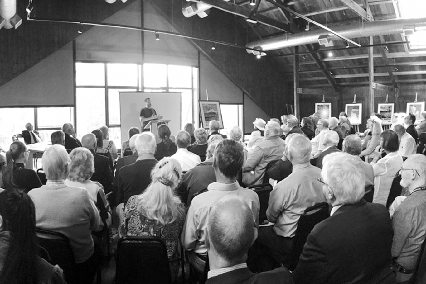 Nicky giving a talk in Cheshire, August 2017.jpg