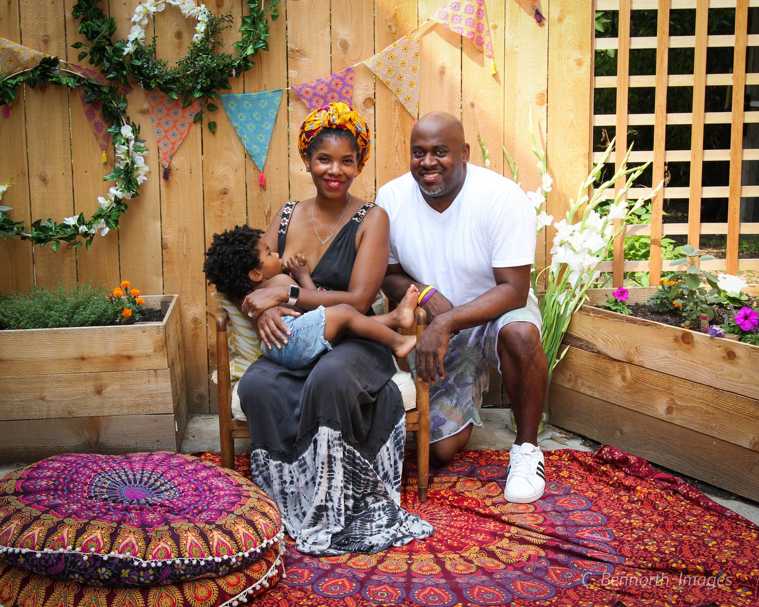 Mama Fresh with Papa Fresh and ObieQ.