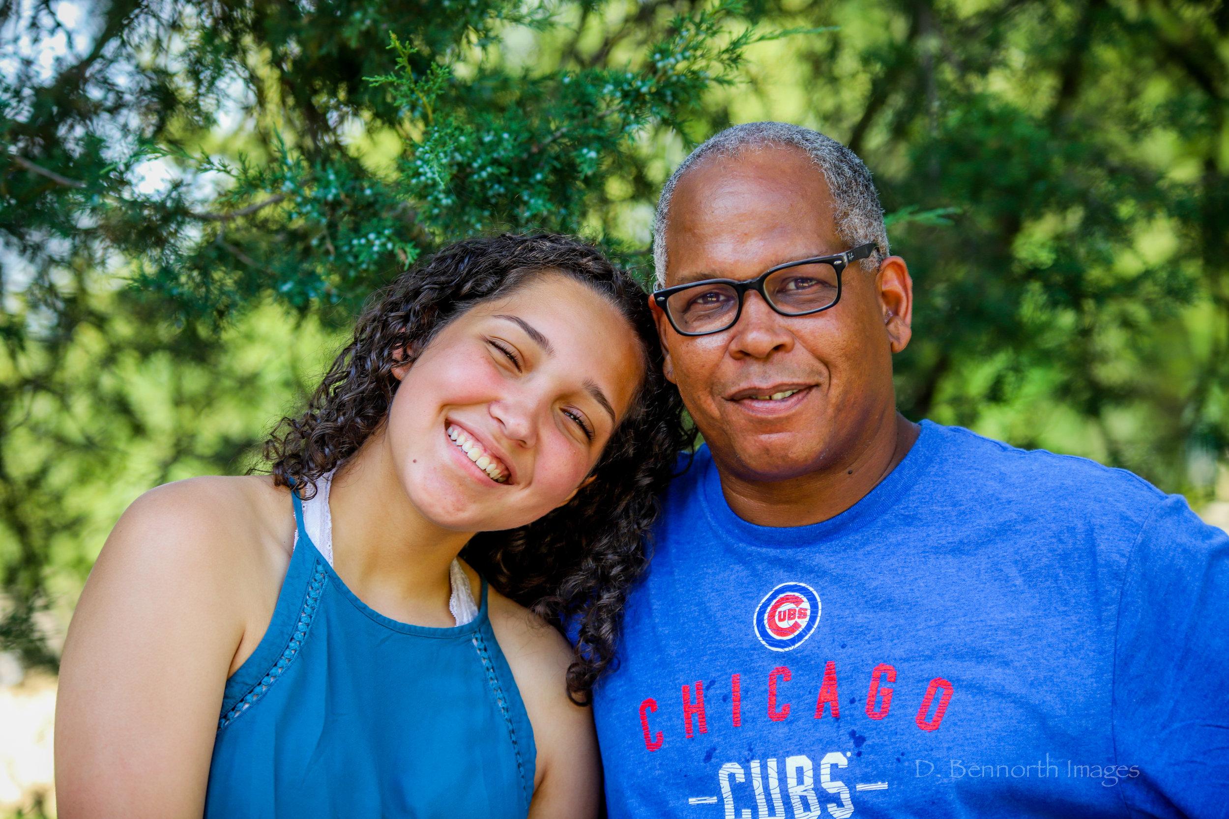 Daddy-daughter shot.