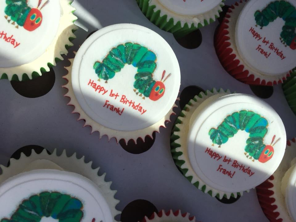 Printed Logo Cupcakes Hungry Caterpillar