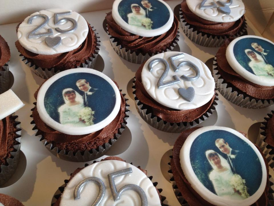 Anniversary Party Personalised Cupcakes Delivered