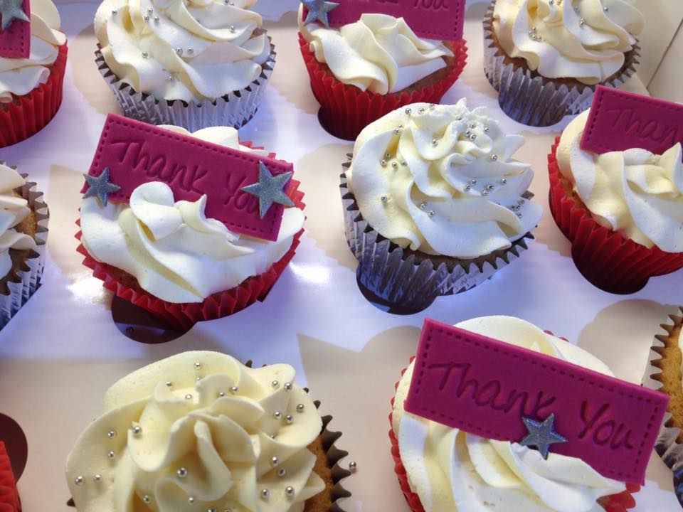 Thank You Personalised Gift Cupcakes