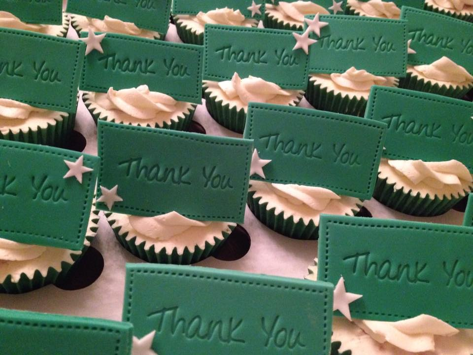 Thank You Bespoke Message Cupcakes