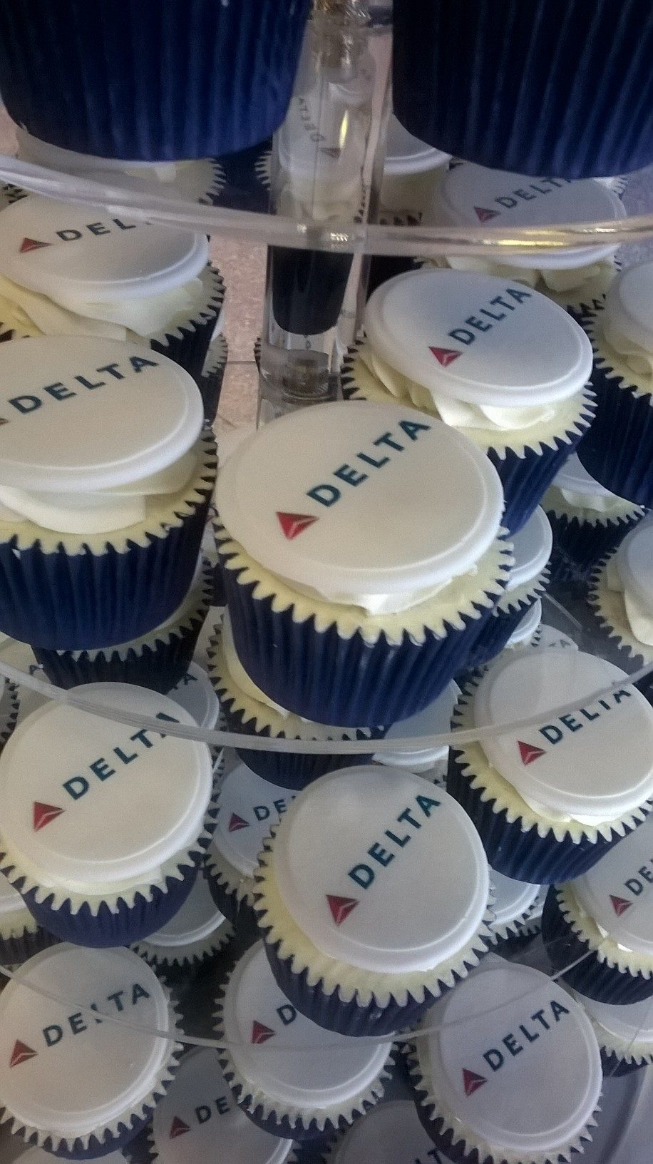 Delta Airlines Branded Cupcakes