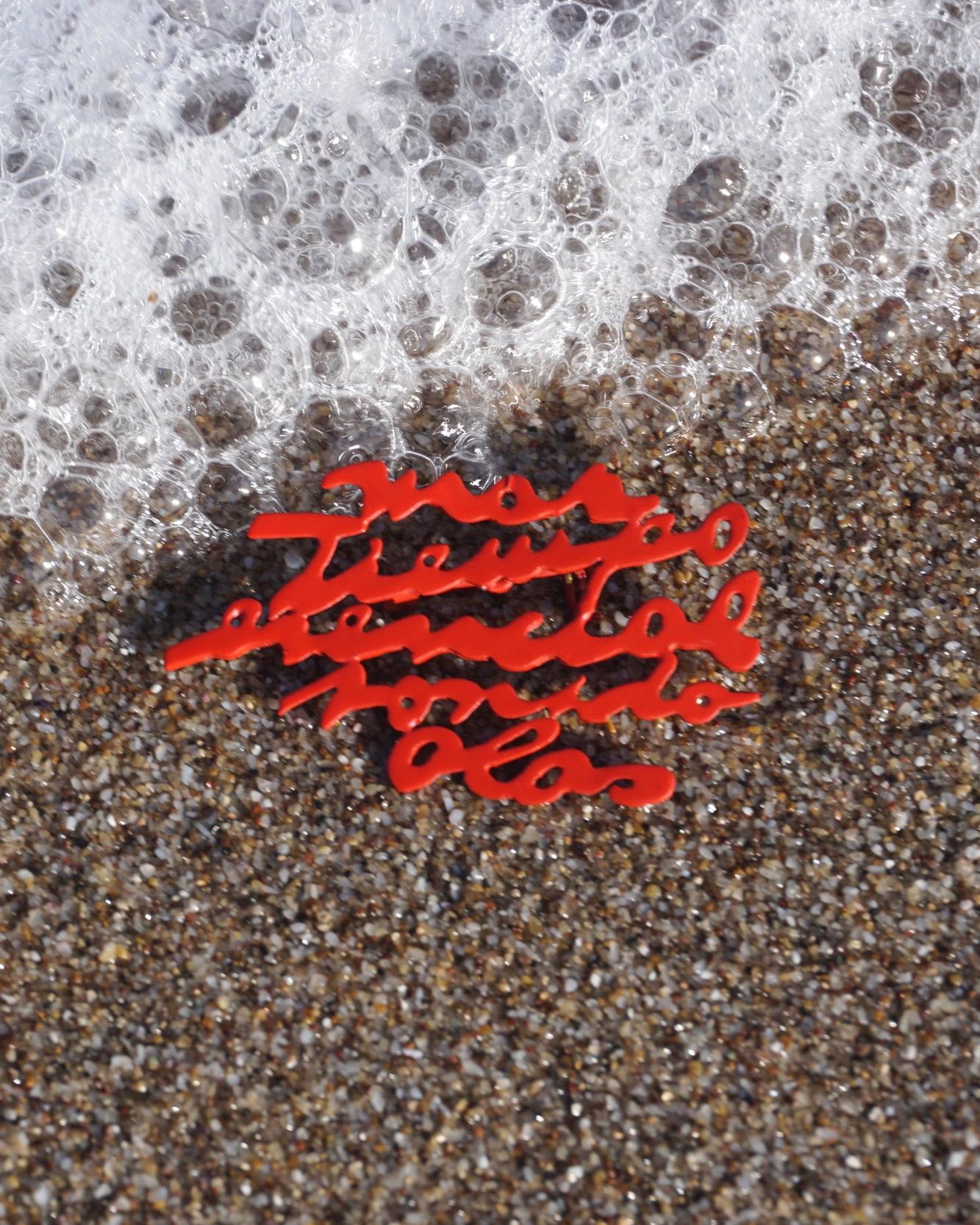 PAISAJE - Una obra en joyería sobre una playa atípica de la provincia de Buenos Aires.