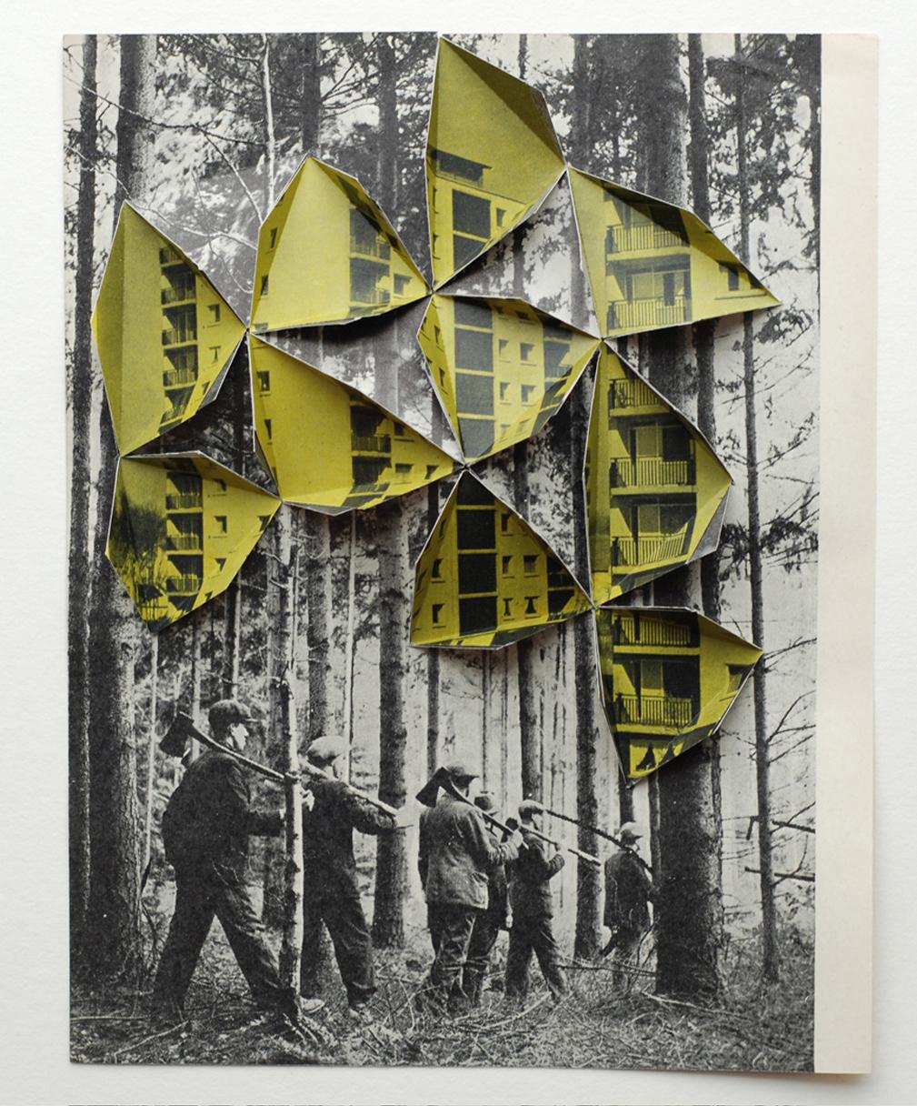 "Collage by Abigail Reynolds, ""Woodsmen 2008"""