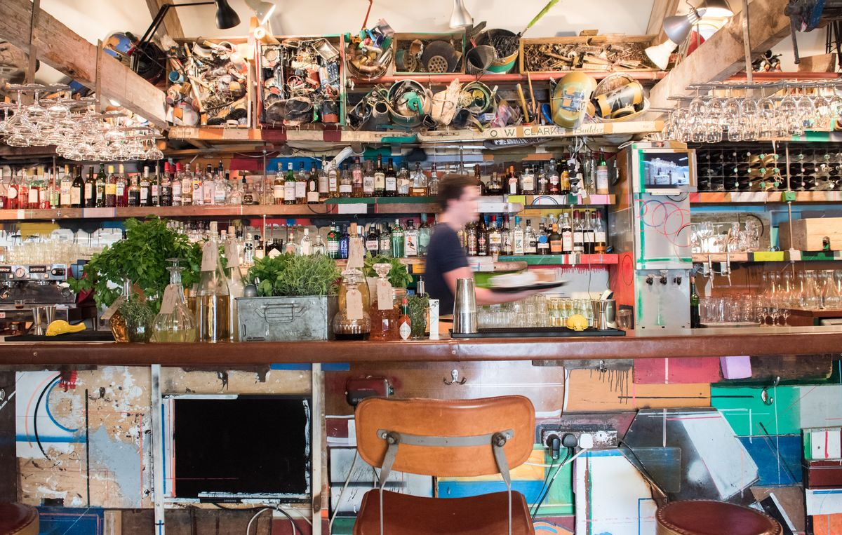 The bar at Roth Bar & Grill, created by artists Björn and Oddur Roth during their residency at Hauser & Wirth Somerset.