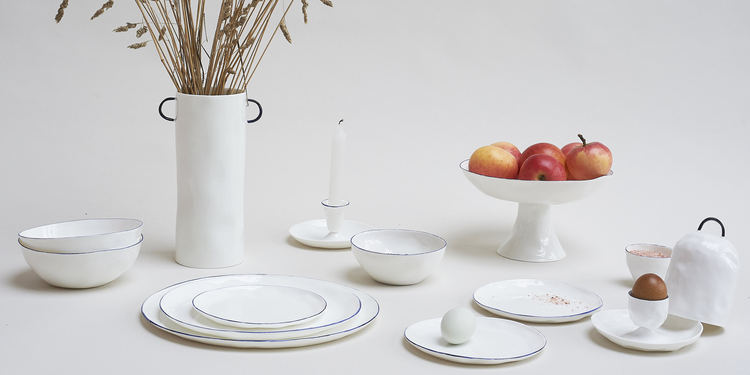 Cath and Jeremy's Feldspar fine bone china, tablewares collection