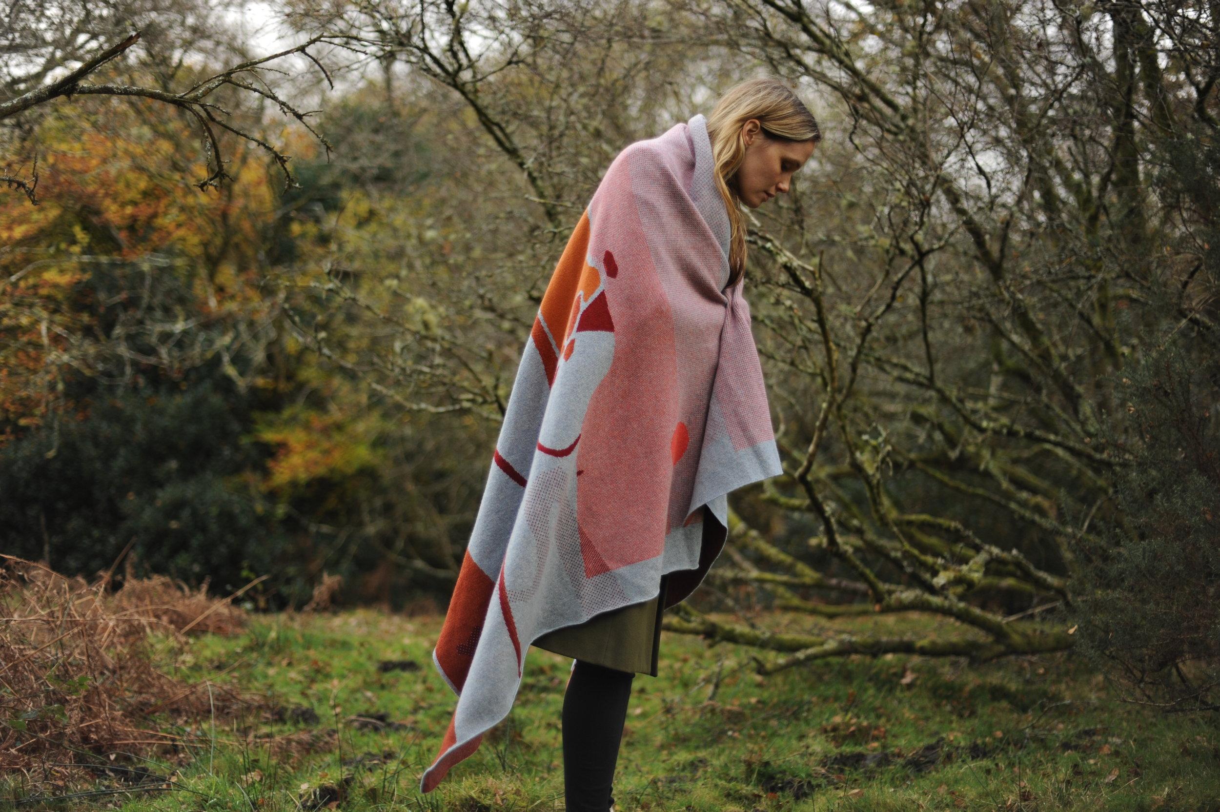 Feldspar textiles, Zoe with russet moor blanket