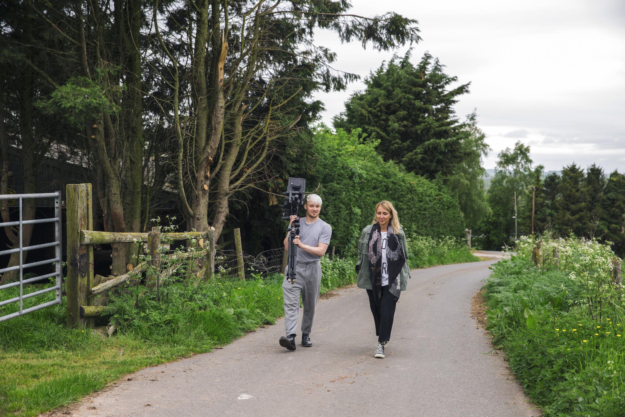 Luke Evans  (on left), artist and photographer in Withington, Herefordshire, UK; Karen Rosenkranz (on right), London-based ethnographer and trend forecaster. Photo: Claudia Rocha.