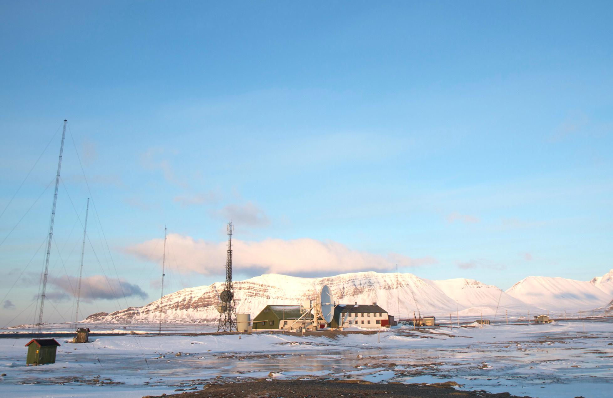 Isfjord Radio, Svalbard. Photograph: Alex Edwards