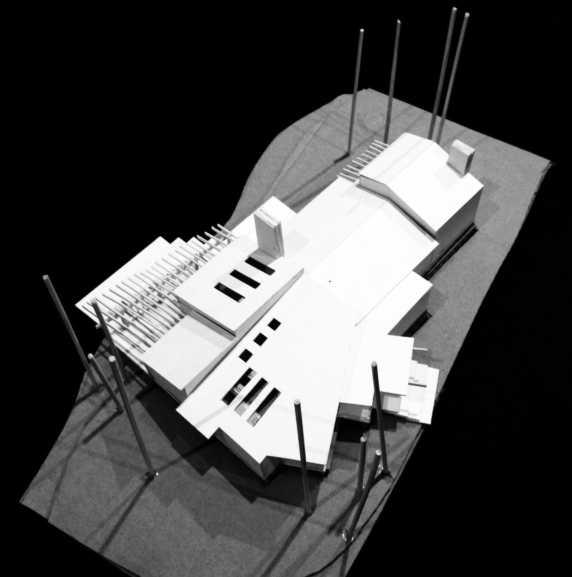 Option 1 Concept model north west arial view