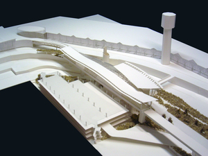 YVR Airport Station - Schematic Design study model.  Built by Angela Lee