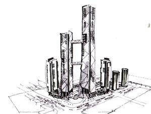 Station Square, Burnaby, BC - development concept option