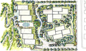 Privada concept masterplan option