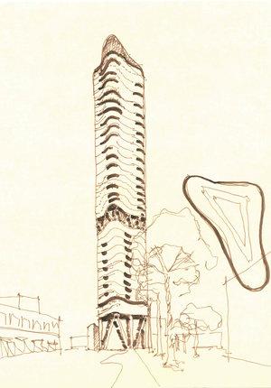 Quarters Hotel + Condominiums - tower concept iteration